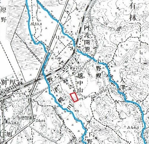 大正5年地形図 S153遺跡周辺