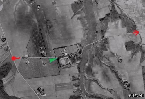 空中写真 1961年 小野幌線