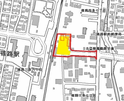 篠路駅東口都市計画(区画整理事業)駅前広場のイメージ案1