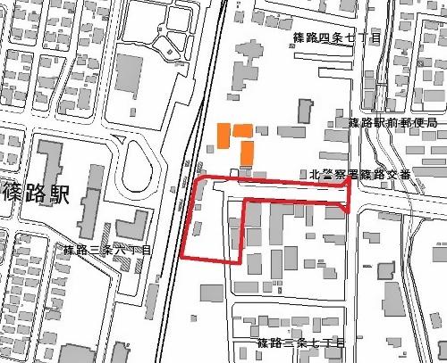 篠路駅東口都市計画(区画整理事業)駅前広場のイメージ案3