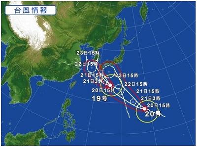 台風19・20