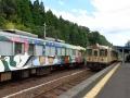 東雲駅での列車交換