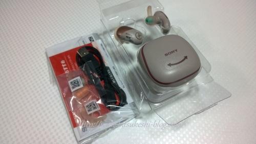 ソニーステレオヘッドセット「WF-SP700N」Bluetoothイヤホン●ピンク-ミニーマウスの刻印写真