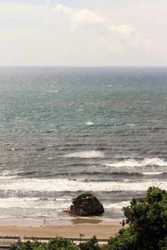 奉納山公園から見た稲佐の浜