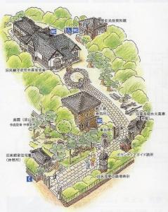 入船山記念館配置図