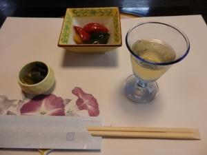 食前酒と料理1