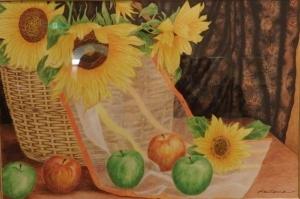 向日葵と林檎