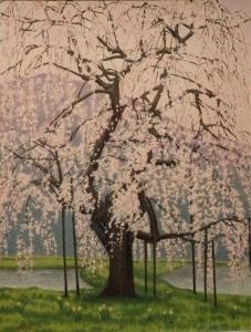 北広島町中原のしだれ桜