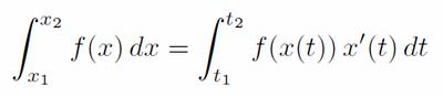 置換積分の変数変換