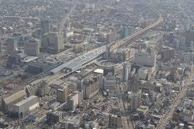 富山駅周辺俯瞰写真