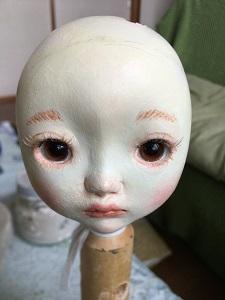20180822 創作人形 メイク完了