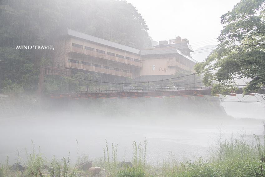 湯原温泉 吊り橋