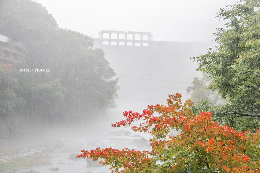 湯原ダム 川霧2