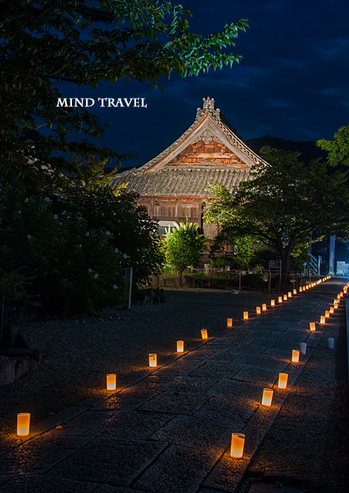 橘寺 観音堂 ライトアップ