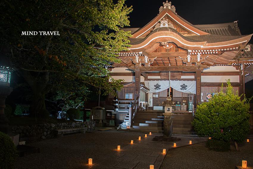 橘寺 本堂 ライトアップ