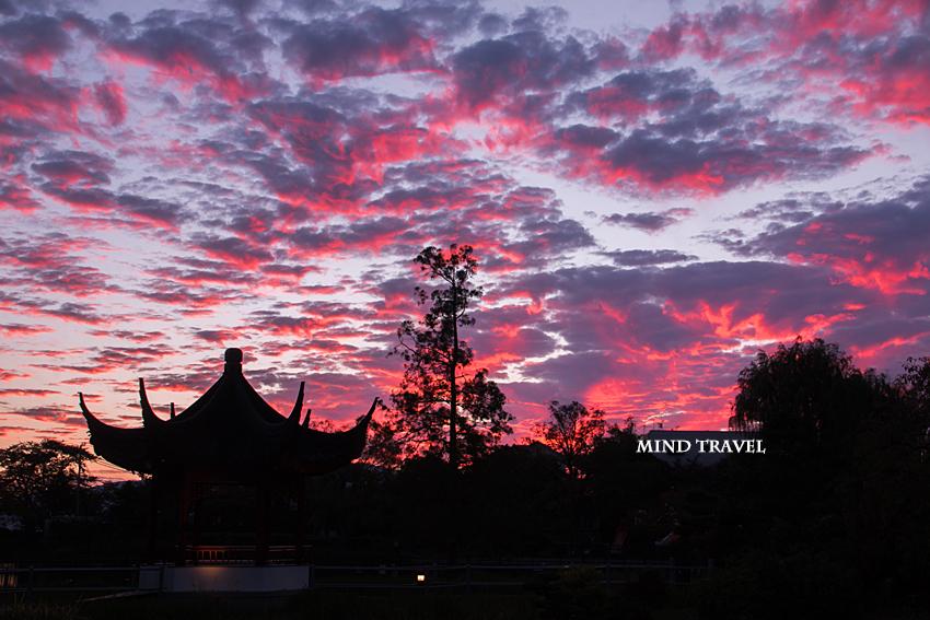 水月公園 夕景