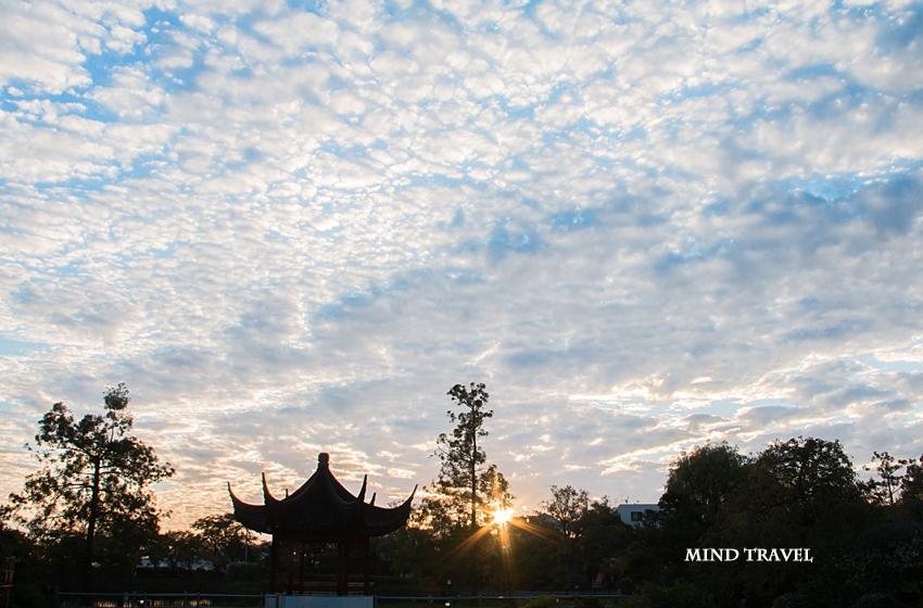 水月公園 夕日