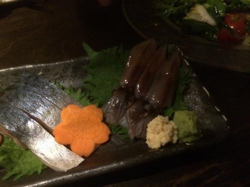 【鮮魚】厳選鮮魚の盛合せ サバとホタルイカ