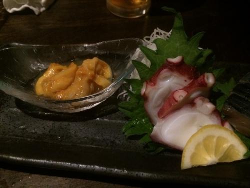 【鮮魚】厳選鮮魚の盛合せ マダコとホヤ?
