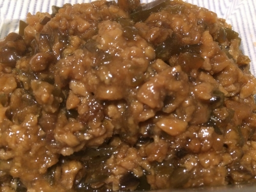 金目鯛・茎わかめ・椎茸・生姜など