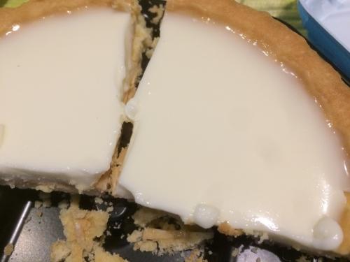 窯焼きタルト レアチーズを4等分して