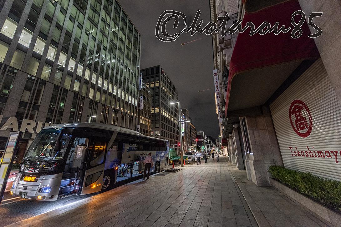 深夜バスが出る 20180912