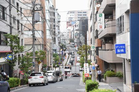 御茶ノ水駅から東都文京病院への坂道
