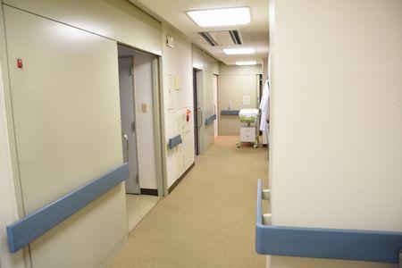 東都文京病院の分娩室前