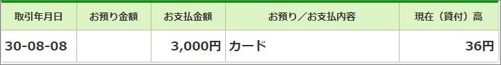 2018年7月8月ゆうちょ銀行