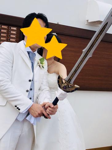 O様 結婚式用 非金属製ドラクエミュージアムverロトの剣頂いたお写真1