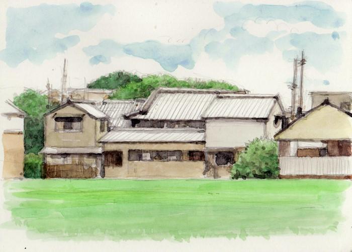 国松町の風景