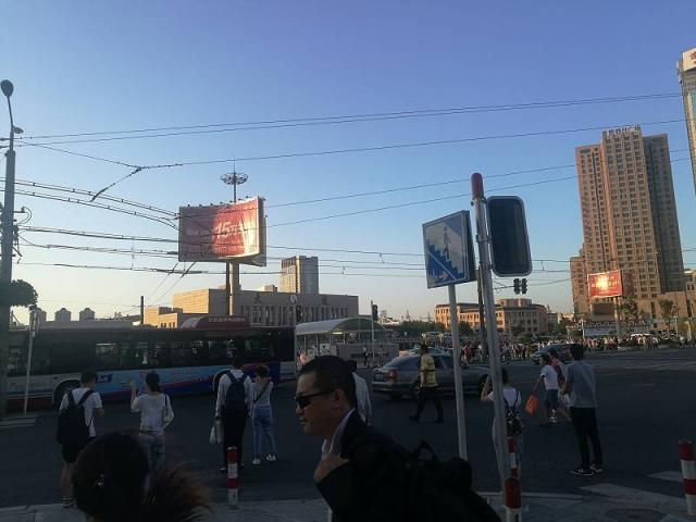 大連火車駅前