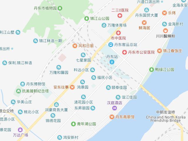 丹東市内地図