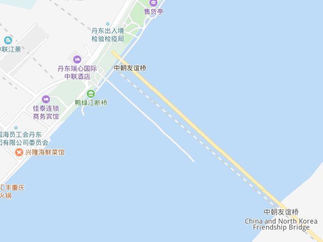 丹東断橋地図