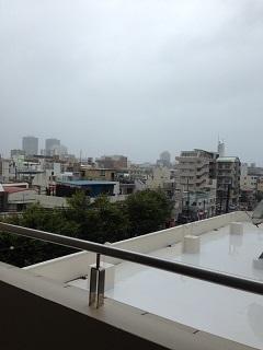 台風25号接近中