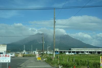 バスから見た桜島