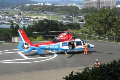 川崎消防のヘリ