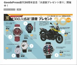 懸賞 スズキ V-Strom 250 ABS GoodsPress創刊30周年記念「大感謝プレゼント祭り」