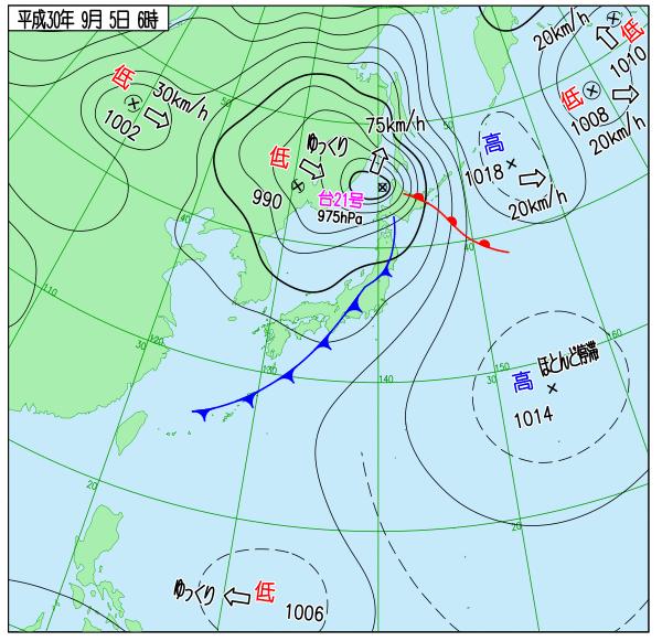 天気図 18090506
