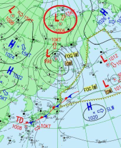 天気図 18090809 拡大