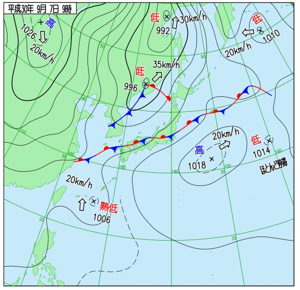 天気図 18090709