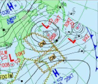 温帯低気圧 元台風24号と25号 <br />ベーリング