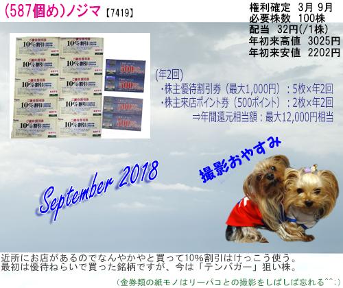 (587)2018年09月到着 ノジマ