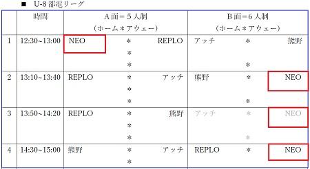 10.8(月祝)2年、10_8(月・祝)U-8都電リーグ行程表②