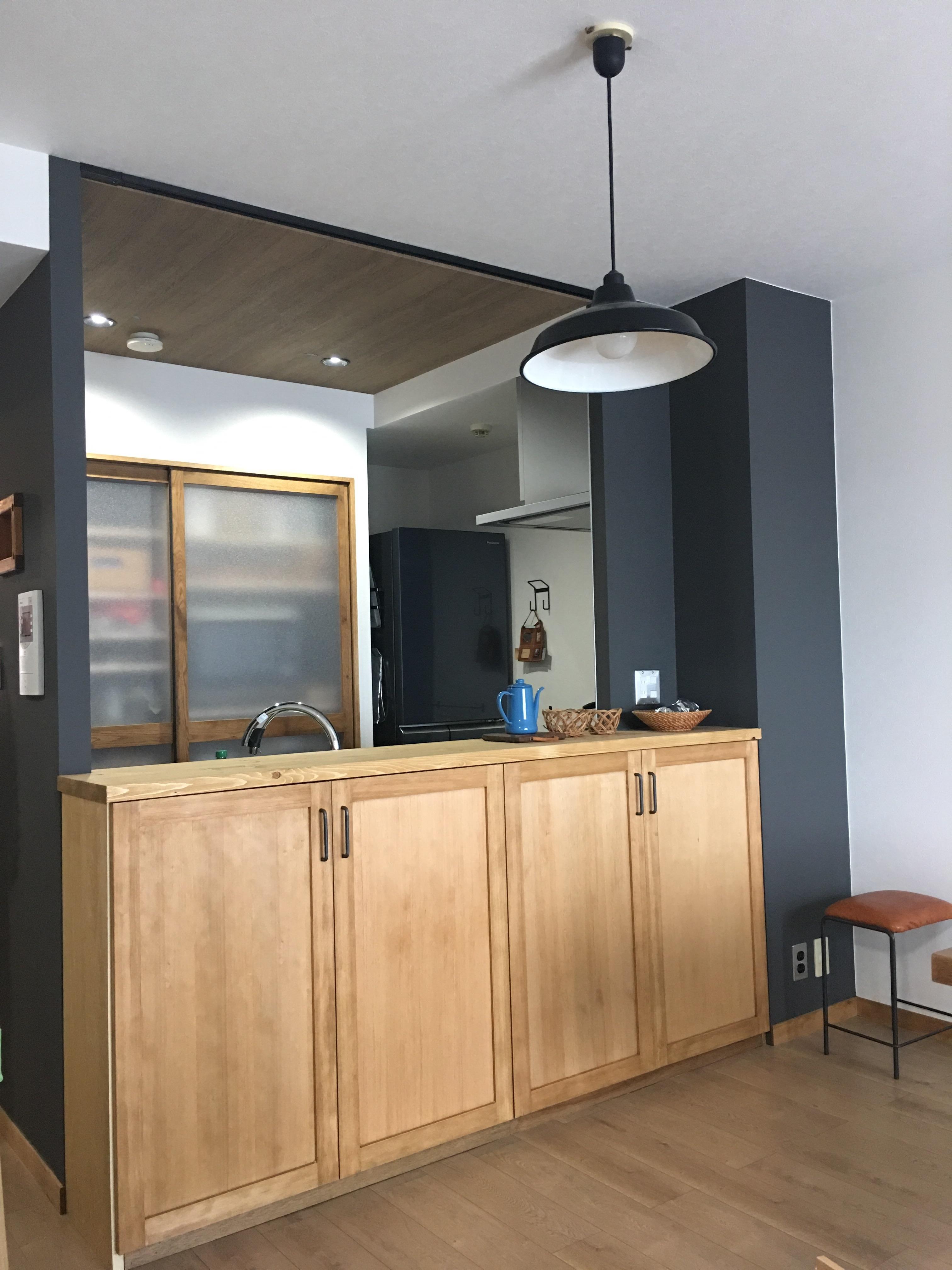 キッチン室造作カウンター収納