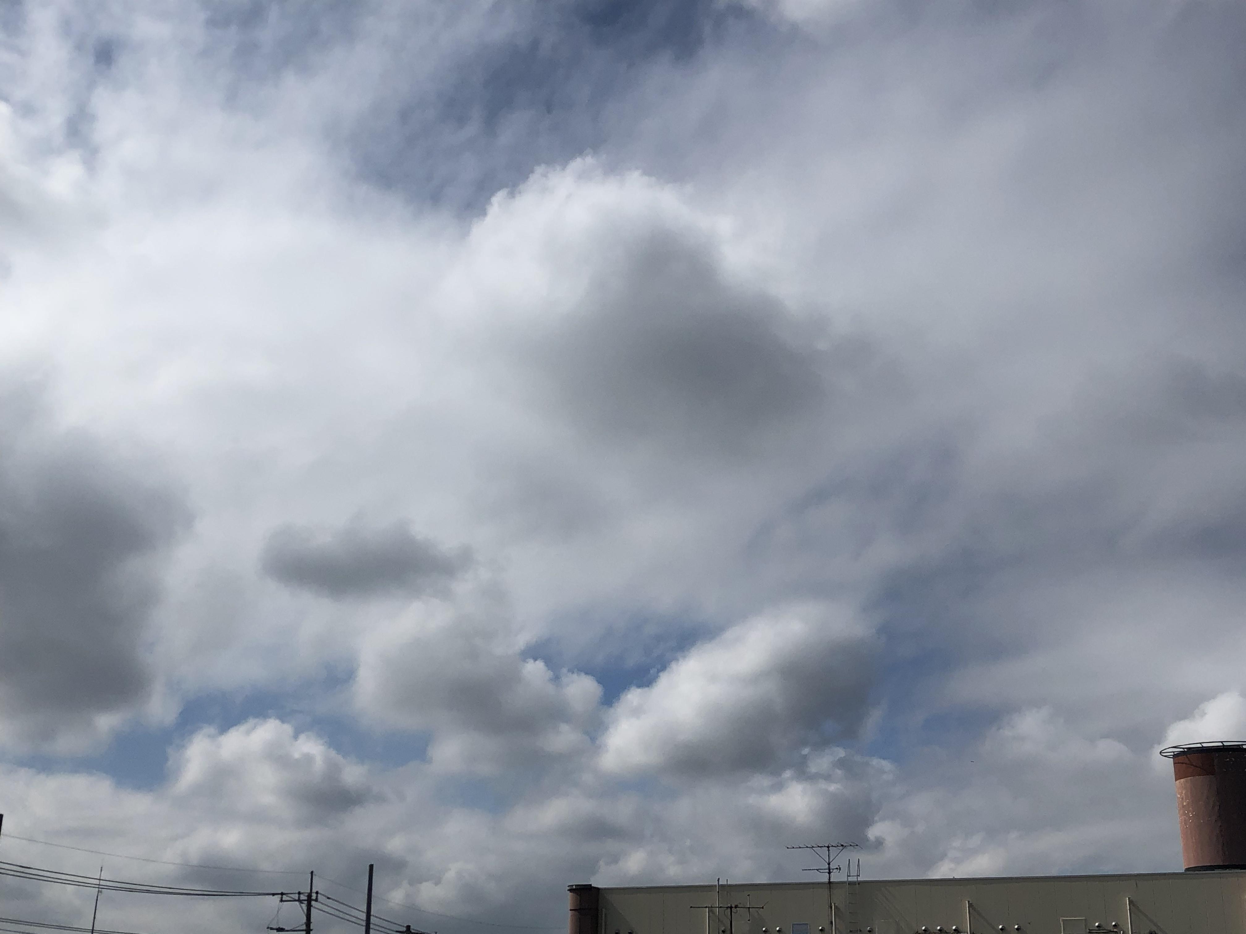 今日の雲(10/5日)