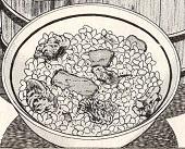 """『美味しんぼ』の""""中華風炊き込みご飯""""図"""