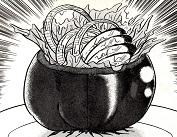 トマトをくりぬいて器にし、中にサラダを詰めます!