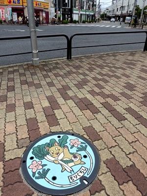守口市キャラクターマンホール1808