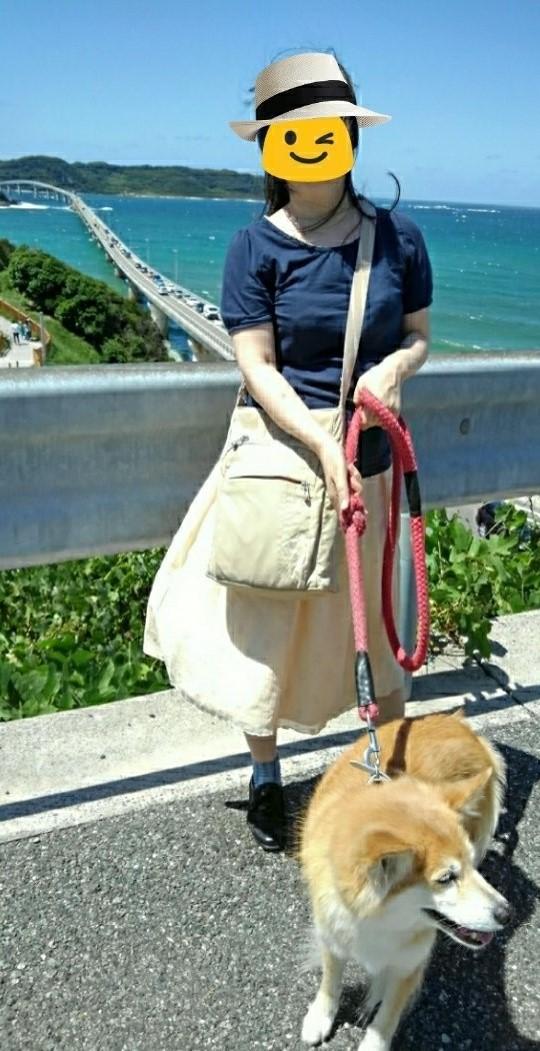 角島大橋正面展望台から私ルー